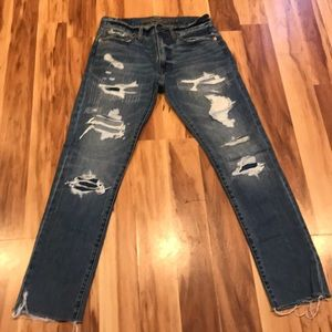 American Eagle men's jeans 29x29 distressed X28